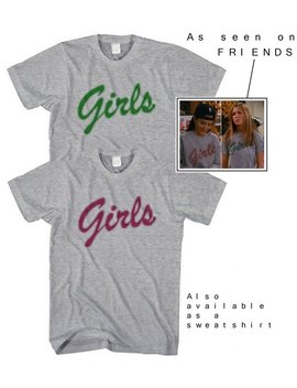 Girls From Friends T Shirt Girl Friends Slogan Tee Tv Show Tshirt Sport Grey Heather Top Marl Hipster Feminist Boho Print Retro 90s Cool Hot by Etsy