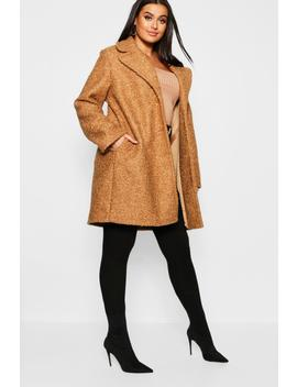 Plus Oversized Faux Fur Teddy Coat by Boohoo
