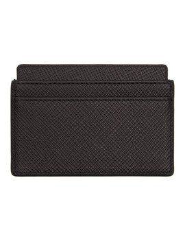 Black Panama Card Holder by Smythson