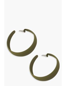 Matte Colour Hoop Earrings by Boohoo