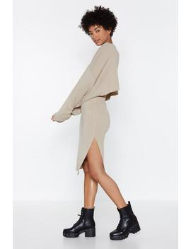 Don't Let The Side Down Knit Skirt by Nasty Gal