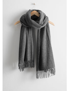 Oversized Wool Scarf by & Other Stories