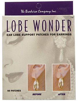 Lobe Wonder 300 Invisible Earring Ear Lobe Support Patches   Provides Relief For Damaged, Streched Ear Lobes And Helps Protect Healthy Ear Lobes... by Lobe Wonder
