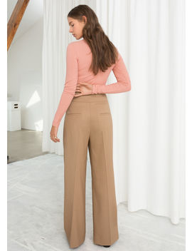 Wool Blend Belted Pants by & Other Stories