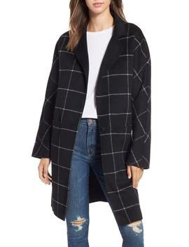 Larsen Windowpane Plaid Wool Blend Coat by Rails
