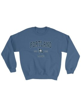 Portland Me Sweatshirt Vintage Portland Maine Sailing Anchor Boat Flag Sweatshirt (Unisex) by Etsy