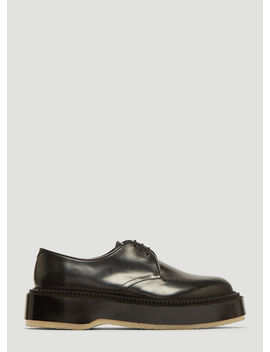 X Undercover 54 Classic Derby Shoes In Black by Adieu