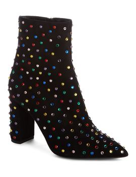 Betty Crystal Stud Pointy Toe Bootie by Saint Laurent