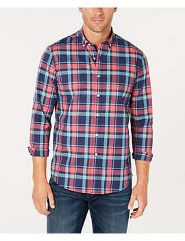 Men's Plaid Performance Shirt, Created For Macy's by Club Room