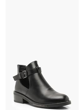 Chain Detail Chelsea Boots by Boohoo