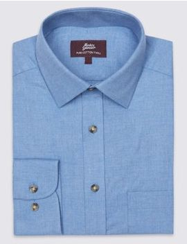 Pure Cotton Twill Regular Fit Shirt by Marks & Spencer