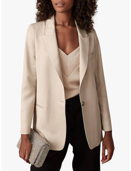 Reiss Freja Sheen Single Button Blazer, Neutral by Reiss