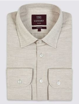 Cotton Rich Tailored Fit Oxford Shirt by Marks & Spencer