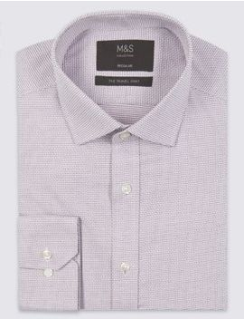 Cotton Blend Non Iron Regular Fit Shirt by Marks & Spencer
