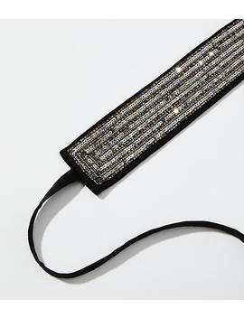 Sequined Tie Belt by Loft