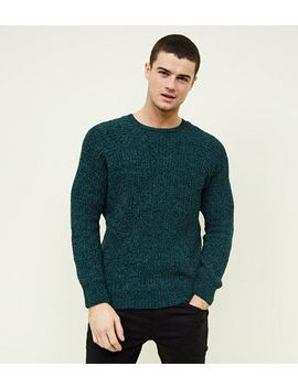 Teal Chenille Knit Jumper by New Look