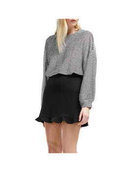 French Connection Frill Mini Skirt, Black by French Connection