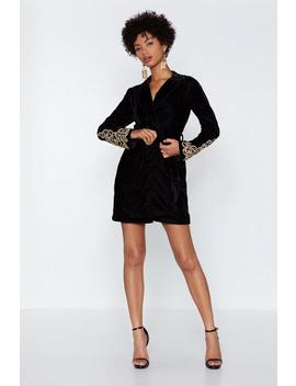 Magic Touch Velvet Blazer Dress by Nasty Gal