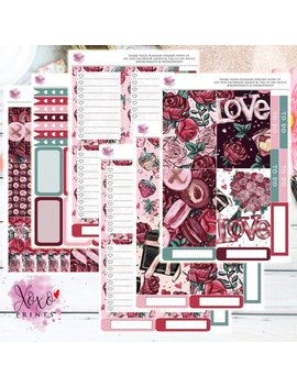 Love Xo Weekly Kit For The Big Happy Planner by Etsy