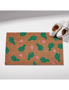 Nickel Designs Hand Painted Doormat   Cactus by West Elm