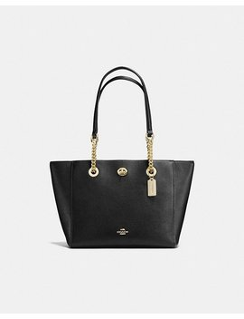 Turnlock Chain Tote 27 by Coach