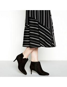 Principles   Black Suedette 'carolina' Mid Stiletto Heel Boots by Principles