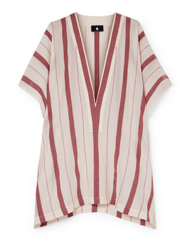 Buka Striped Cotton Gauze Tunic by Su Paris