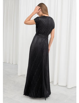 Metallic Pleated Maxi Dress by & Other Stories