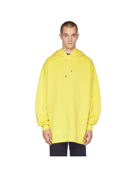 Yellow Fala Wash Hoodie by Acne Studios