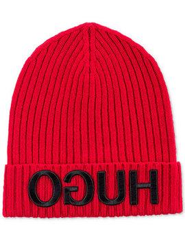 Men's Wool Logo Hat by Hugo Boss