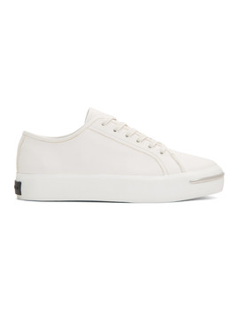 White Pia Low Sneakers by Alexander Wang