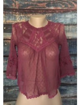 Free People Women's Lace Top Size Small by Free People