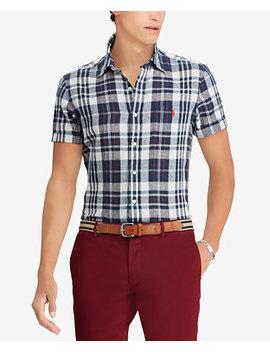 Men's Classic Fit Plaid Cotton Shirt by Polo Ralph Lauren