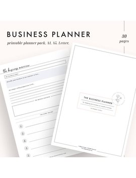 Online Business Planer, Kleine Unternehmen Planer, Etsy Planer, Etsy Shop Planer, Hauptgeschäft Planer, Druckbare Kalender Einlagen, A5, A4 by Etsy