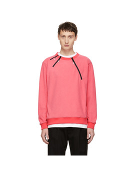 Pink 3 Zip Sweatshirt by 99% Is