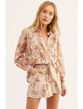 Jungle Blouse Flutter Short Set by Free People