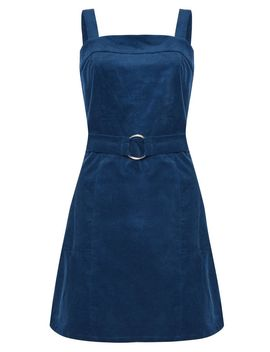 **Belted Cord Pinafore Dress By Glamorous by Topshop