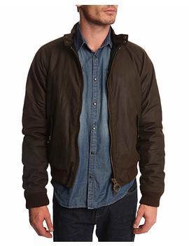 Barbour Merchant Wax Jacket In Khaki by Barbour