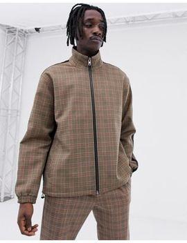 Mennace Zip Thru Jacket In Check by Mennace