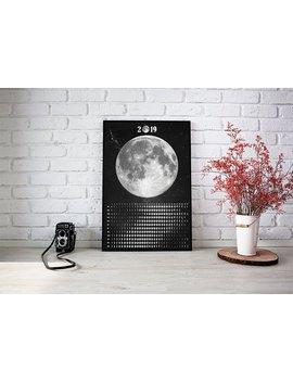 Moon Calendar 2019, Lunar Calendar, Moon Phase Poster, Calendrier Lunaire 2019, Best Calendar, Solar System Poster, Moon Gift Wall Art by Etsy