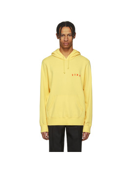 Yellow Lightweight 'fire' Hoodie by Wacko Maria