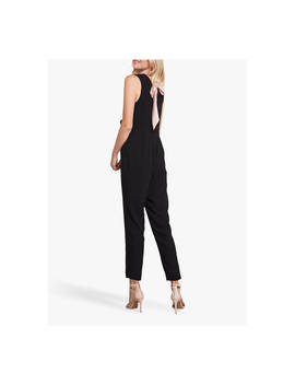 Mint Velvet Sleeveless Tie Back Jumpsuit, Black by Mint Velvet