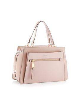 Principles   Light Pink Faux Leather Large Bowler Bag by Principles