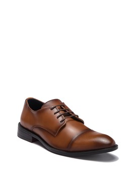 Matteo Leather Cap Toe Derby by Joseph Abboud
