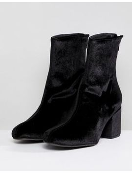 Free People   Cecile   Bottines En Velours by Asos Fr
