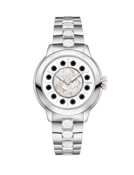 33mm I Shine Stainless Steel Bracelet Watch W/Pink Topaz & Black Spinel by Fendi
