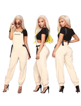Women Metal Style Cool Casual Club Party Long Pants Suspender Trousers Overalls by Unbranded