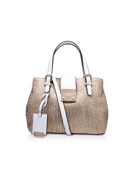 Carvela   Gold Micro Mandy' Handbag With Shoulder Straps by Carvela