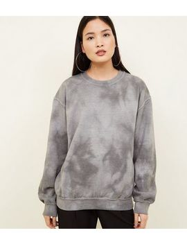 Grey Tie Dye Oversized Sweatshirt by New Look
