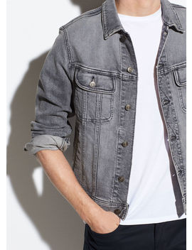 Denim Trucker Jacket by Vince
